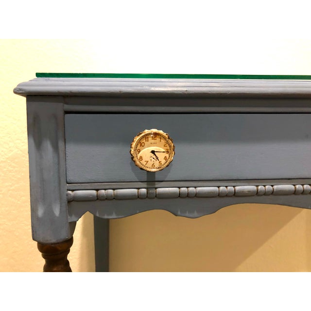 Metal Antique Victorian Refurbished Writing Desk For Sale - Image 7 of 11