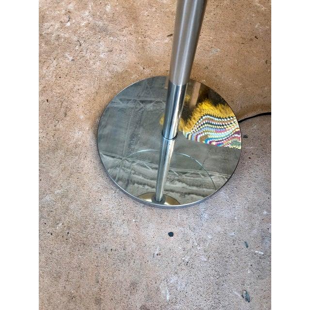 Walter Von Nessen Mid Century Walter Von Nessen Chrome Tray Table Floor Lamp For Sale - Image 4 of 7