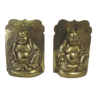 Chinese Brass Buddah Bookends - a Pair For Sale
