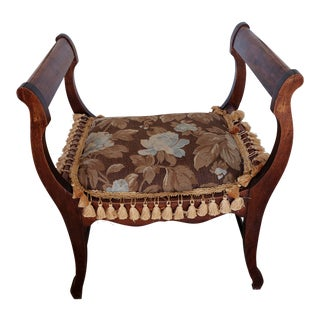 Antique Vanity Seat For Sale