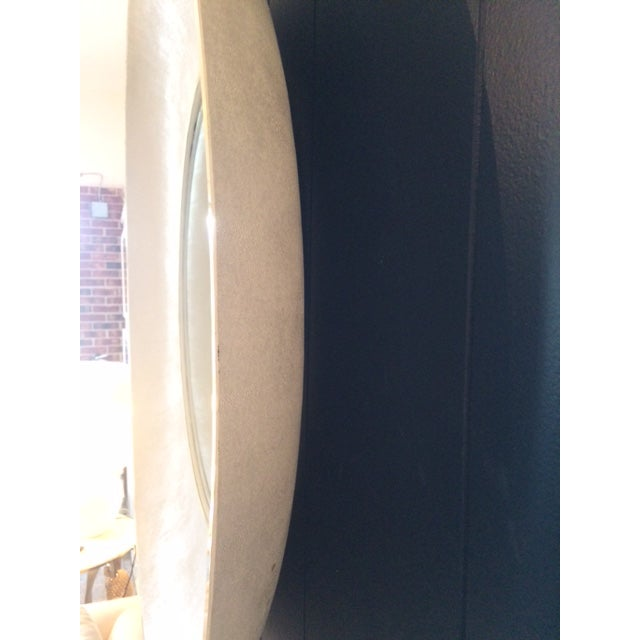 Large Modern Round Shagreen-Style Mirror For Sale - Image 10 of 13