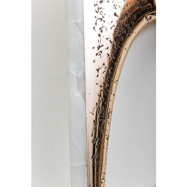 2010s Markus Haase, Bronze and Onyx Sculptural Sconce, Usa, 2017 For Sale - Image 5 of 8