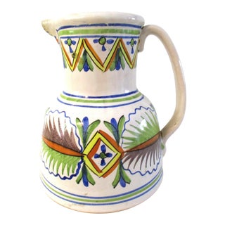 1970s Mediterranean Pottery Pitcher For Sale