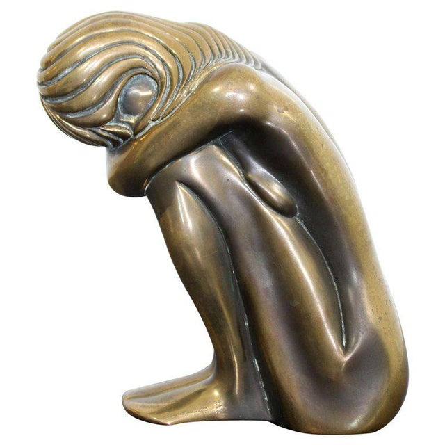 "Contemporary Modern Tom Bennett Signed ""Solitude"" Bronze Sculpture 94/250 For Sale - Image 9 of 9"