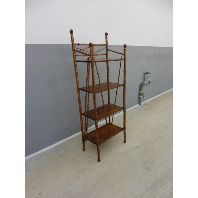 Bamboo 19th Century Victorian 4 Tier Bamboo Etagere For Sale - Image 7 of 10