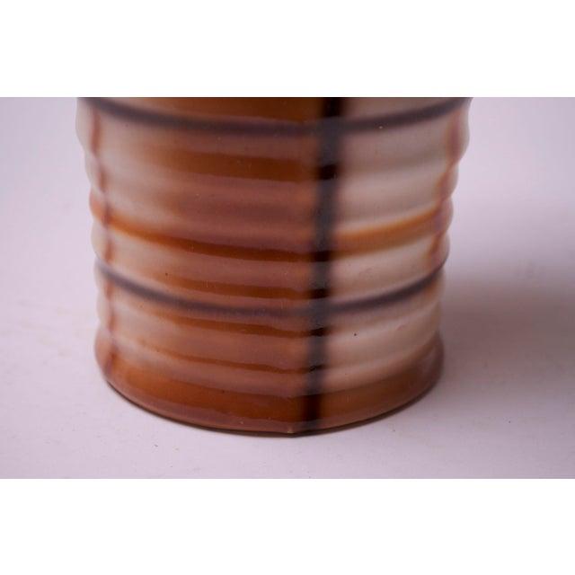 Orange Vintage Erphila Bohemian Art Pottery Vase For Sale - Image 8 of 10