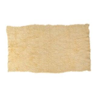 1970s Greek Flokati Throw Blanket or Carpet For Sale