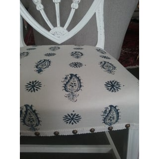 Vintage Hepplewhite Side Chairs Brunschwig Paisley Fabric 5 Available Preview