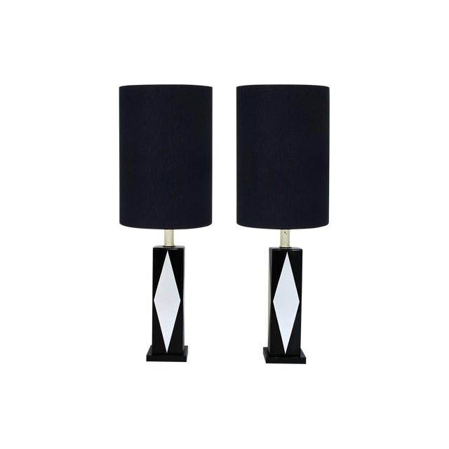 Pair of Mid-Century Ceramic Table Lamps - Image 1 of 8
