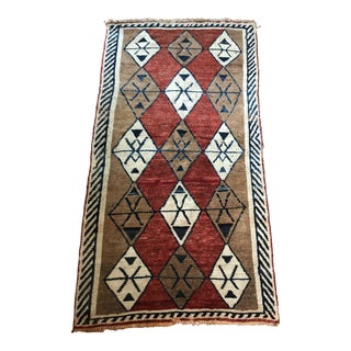 Hand Knotted Persian Navy, Ivory, Copper and Rust Rug For Sale