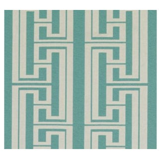 Duralee Hudson Stripe Jade Fabric For Sale