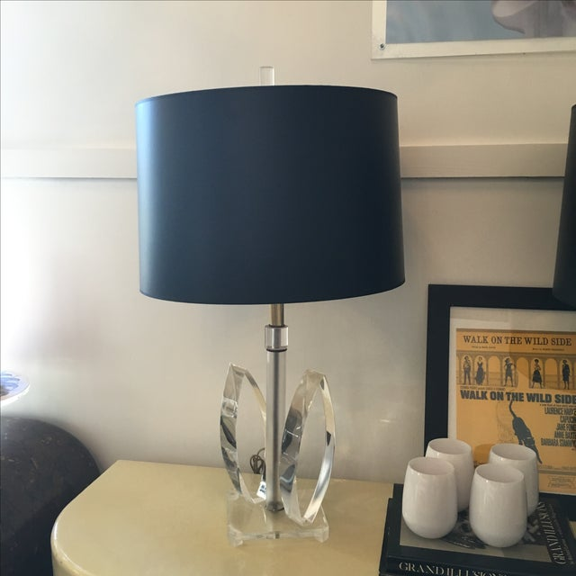 Mid Century Modern Sculptural Acrylic Table Lamp Attributed to Van Teal - Image 2 of 8