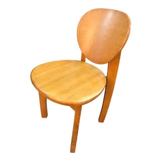 Vintage Mid Century Arts & Crafts All Wood Chair For Sale