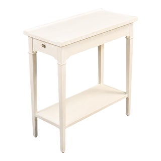 Chelsea End Table, Working White Finish For Sale