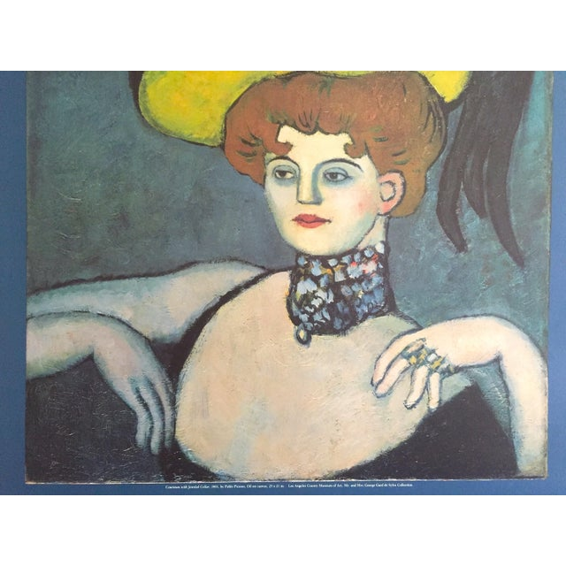 """Pablo Picasso Vintage 1985 Lithograph Print Exhibition Poster """" Courtesan With Jeweled Collar """" 1901 For Sale - Image 10 of 13"""