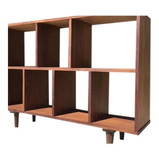 Mid Century Walnut Book Case/Vinyl Record Storage For Sale