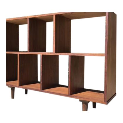Mid Century Walnut Book Case Vinyl Record Storage Chairish