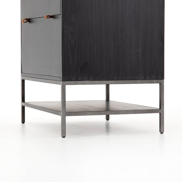 Inspired by clean mid-century design, greyish auburn poplar offers plenty of extra desk storage space. Metal-secured...