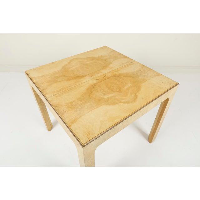 Henredon 1970s Vintage Henredon Burled Olive Wood Dining Table For Sale - Image 4 of 11