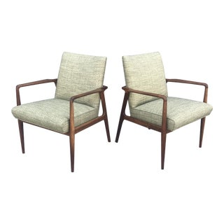 1950s Mid-Century Modern George Reinoehl for Stow Davis Lounge Chairs - a Pair