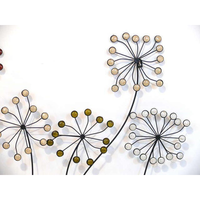 Beaded Floral Wall Sculpture - Image 8 of 8