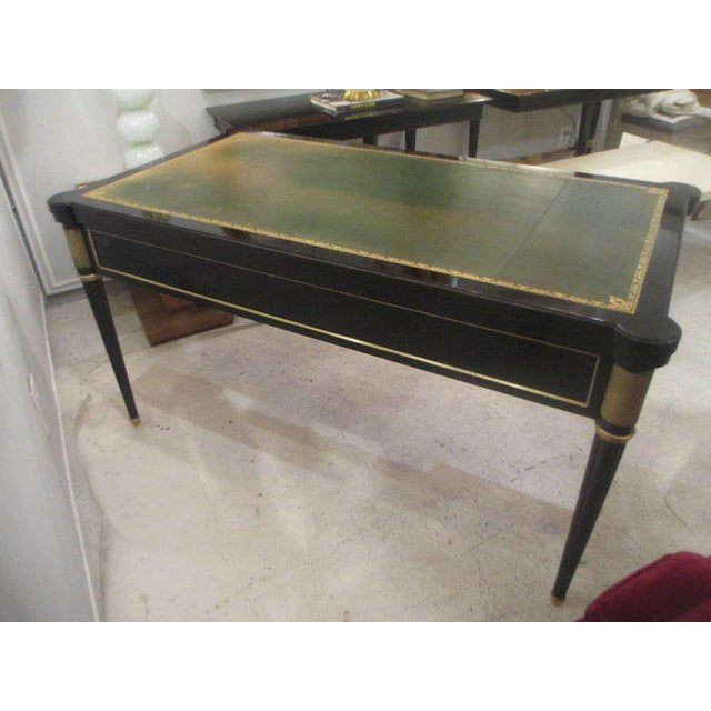French French Directoire-Style Ebonized Bureau Plat Desk For Sale - Image 3 of 8