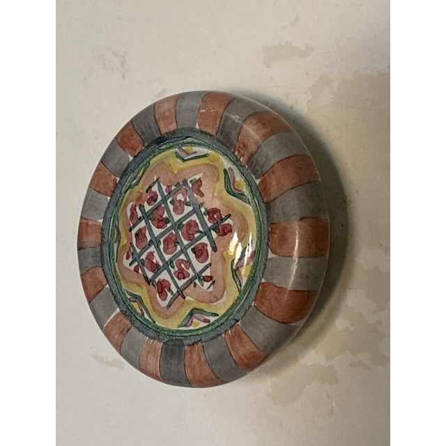 1990's Mackenzie Childs Hand Painted Ceramic Door Pulls - a Pair For Sale - Image 11 of 13