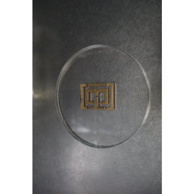 Tory Burch Lucite Coasters- Set of 6 For Sale - Image 4 of 8