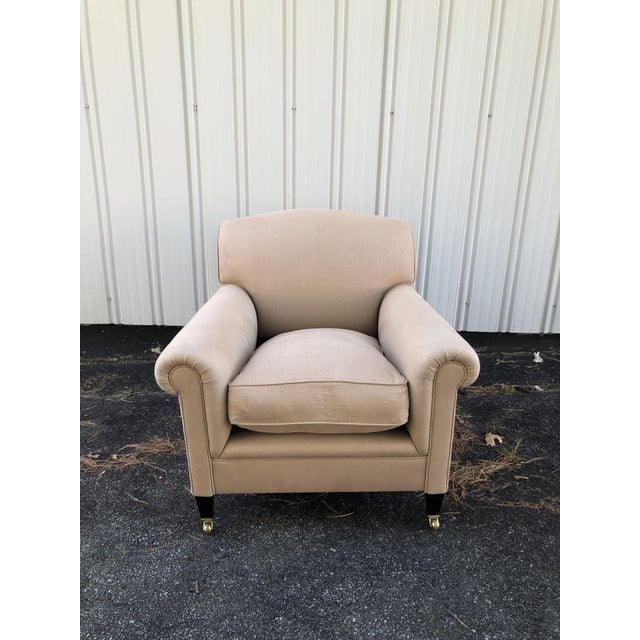 George Smith Full Scroll Arm Chair With Slipcover For Sale - Image 11 of 11