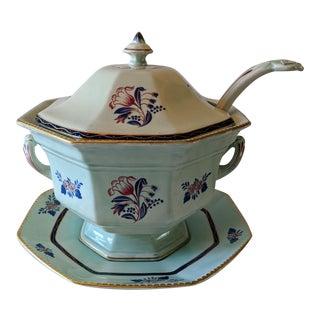"Antique English Adams Calyx Ware ""Georgian Tulip"" Soup Tureen For Sale"