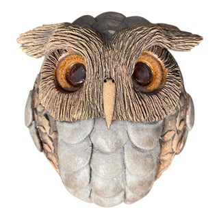 Early Clarence Cameron Pottery Owl Wall Art For Sale