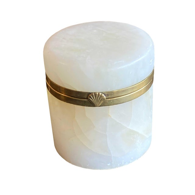 Stone Vintage Mid Century Italian Marble Jar For Sale - Image 7 of 7