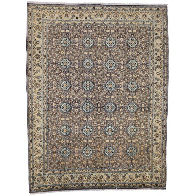 Vintage Persian Moud Mood Rug For Sale - Image 9 of 9