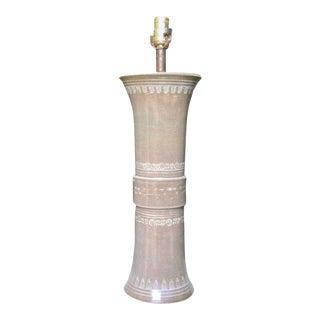 Glazed Ceramic Lamp Base by Kreiss For Sale