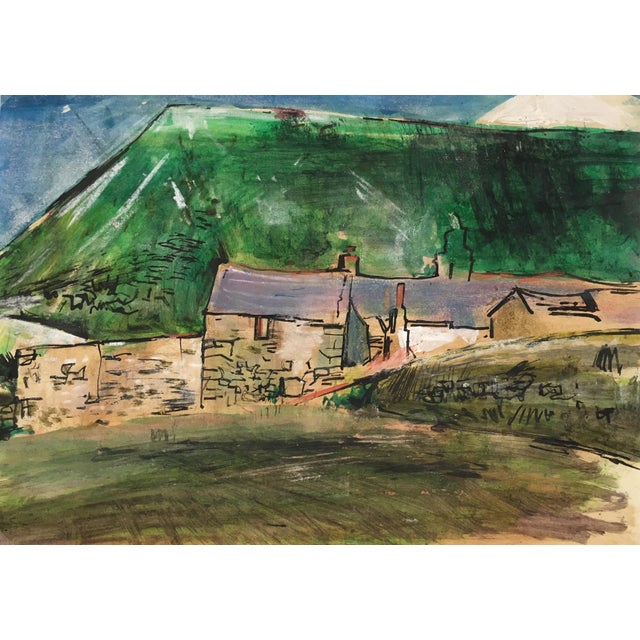 Abstract England South Coast, Abstract Modern Landscape – Robert Kitts, C.1950 For Sale - Image 3 of 4