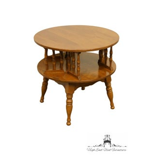 """Ethan Allen Baumritter Heirloom Nutmeg 28"""" Round Rotating Drum / End Table Preview"""