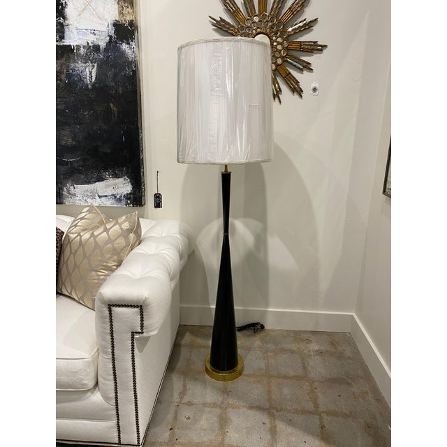 Italian Ebonized Wood Floor Lamps For Sale - Image 10 of 10
