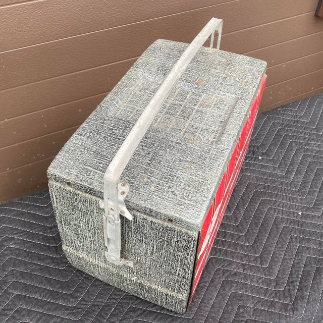 1950s Flamingo Insulated Ice Chest Cooler For Sale - Image 11 of 13