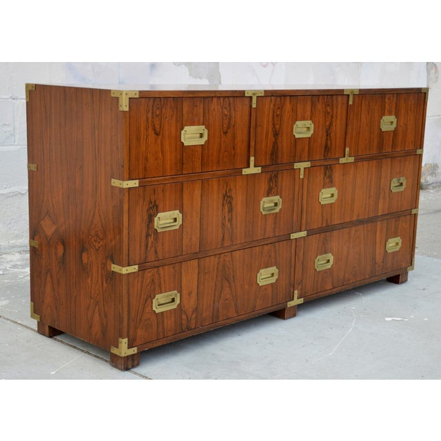 Brown Pair of Walnut Baker Chests of Drawers For Sale - Image 8 of 13