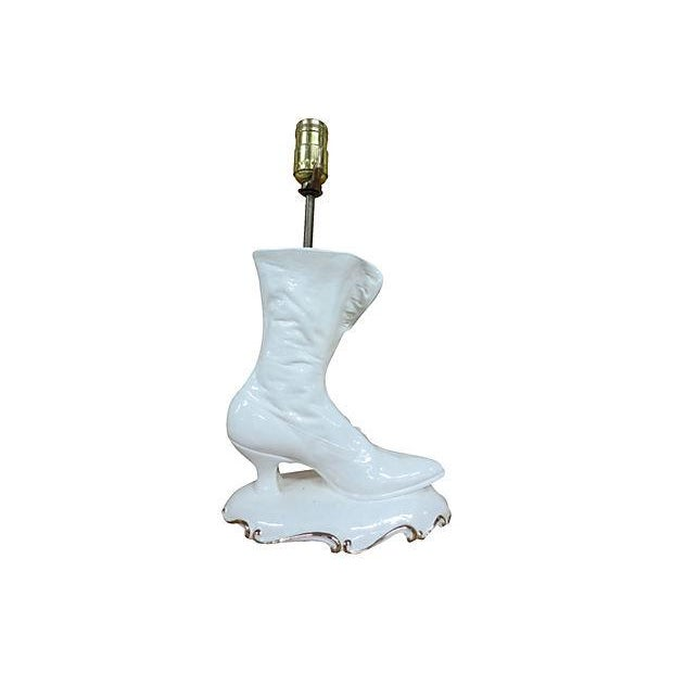 White Boot Lamp - Image 4 of 7
