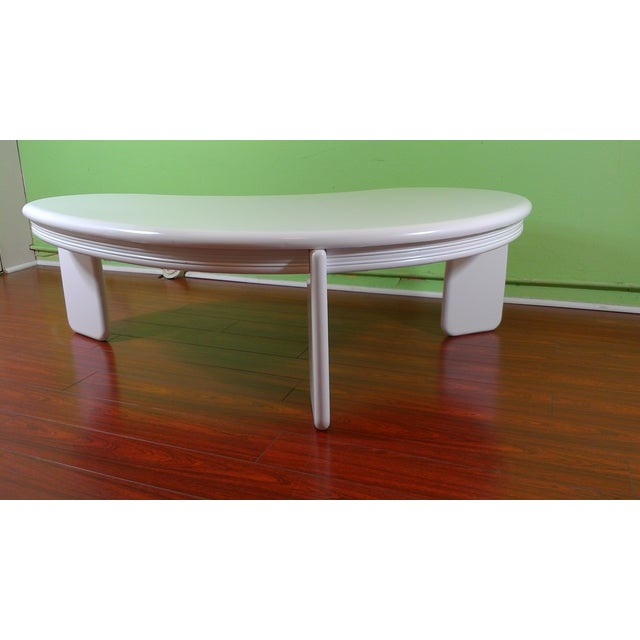 Kidney Shaped Coffee Table - Image 3 of 11