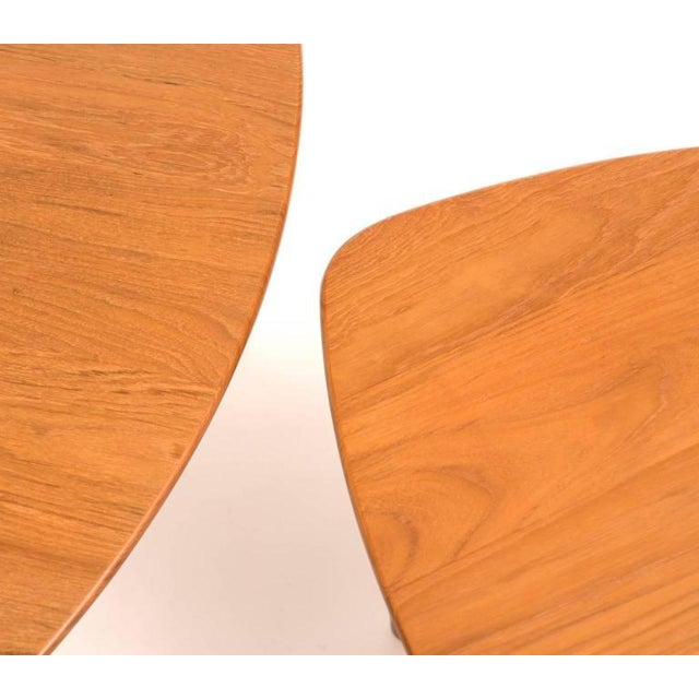 DUX Mid-Century Teak Guitar Pick Tables - A Pair For Sale In Santa Fe - Image 6 of 9