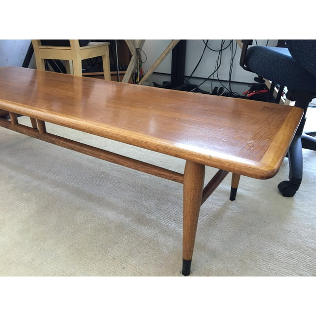 Mid Century Modern Walnut Coffee & Side Table Set by Andre Bus for Altavista Lane - Image 4 of 9