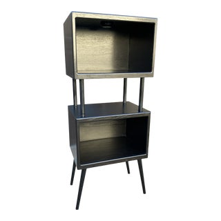 Industrial 3~Tier Ebonized Shelf For Sale
