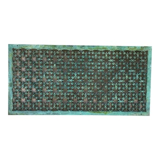 19th Century Architectural Copper Wall Mounted Screen For Sale