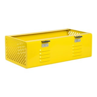 Double Wide Locker Basket in Mellow Yellow, Custom Made to Order For Sale