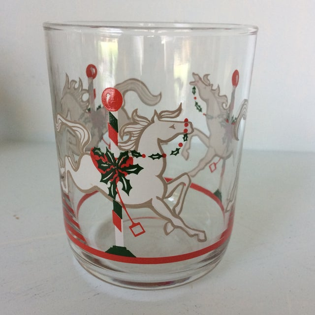 1970s Libbey Merry-Go-Round Glasses - Set of 6 For Sale - Image 5 of 13