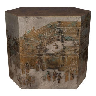 """Chan"" Chinoiserie Side Table by Philip and Kelvin Laverne For Sale"