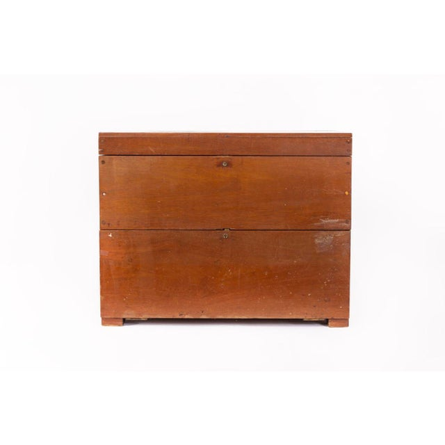 This large rare antique military officer's portable field desk is circa 19th century. Handcrafted from solid wood with...
