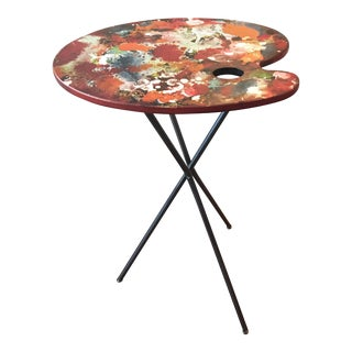 Artist's Paint Palette Tripod Accent Table
